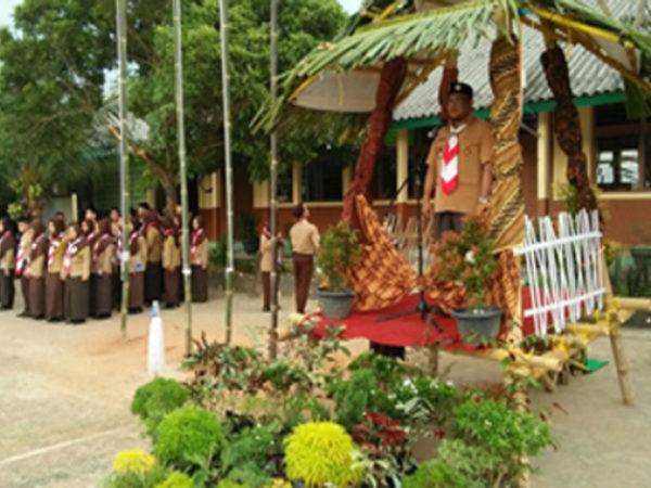 Ambalan Bung Hatta dan Dewi Sartika MAN 1 Lampung Timur Adakan Penerimaan Tamu Ambalan