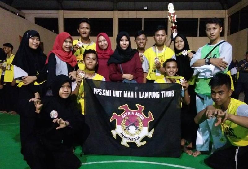 MAN 1 Lampung Timur Raih 4 Emas Kejurda Pencak Silat SMI Cup di PKOR Bandar Lampung