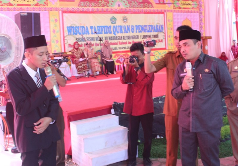 Kabid Madrasah Uji Kompetensi Siswa Tahfidz Quran MAN 1 Lampung Timur