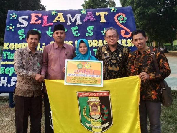 MAN 1 Lampung Timur Maju Ke Tingkat Nasional Kompetisi Sains Madrasah (KSM)