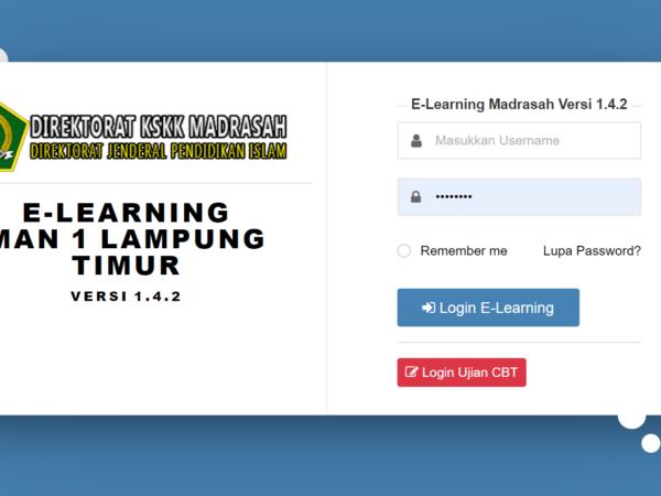 MAN 1 Lamtim Lakukan Pembelajaran Melalui E-Learning Ditengah Masa Pandemi